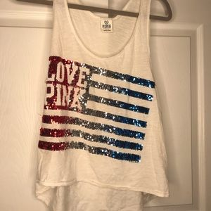 4th of July sequins tank top